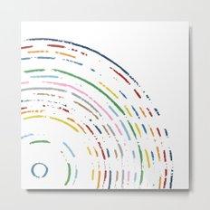 Rainbow Part Disc Metal Print
