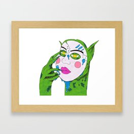 Gremlin Out On The Town Framed Art Print