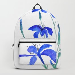 blue day lily Backpack