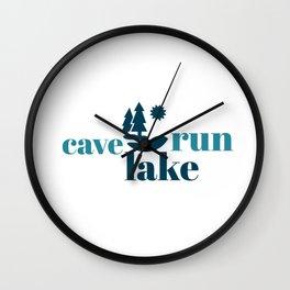 Simply Cave Run Lake Wall Clock
