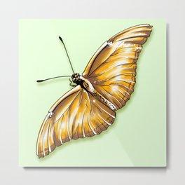 Papillon jaune Metal Print