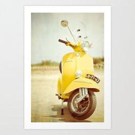 Mod Style in Yellow Art Print