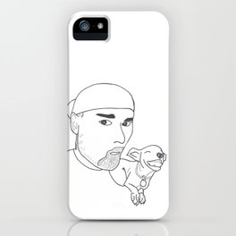 A boy and his dog. iPhone Case