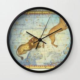 Vintage Print - J Flamsteed - Atlas Celeste (1776) - Leo Wall Clock