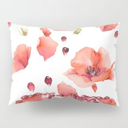 My heart is full of flowers / pomegranate and poppies Pillow Sham