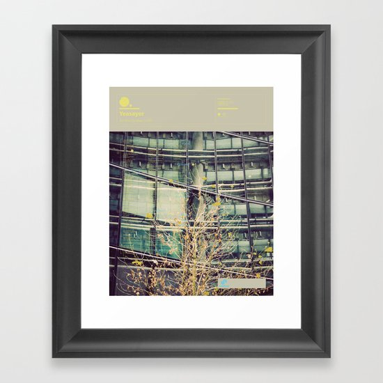 The Visual Mixtape 2010 | All Hour Cymbals | 21 / 25 Framed Art Print