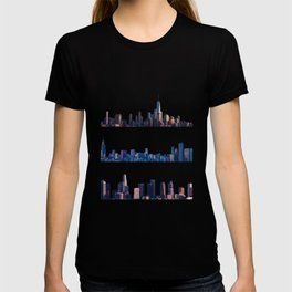 Chicago, New York, And Los Angeles City Skylines T-shirt