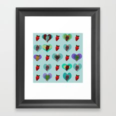 FUNNY STRAWBERRY PATTERN 02 Framed Art Print