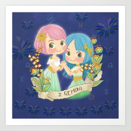 GEMINI my cute horoscope Art Print