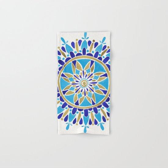 Royal Blue Mandala Hand & Bath Towel