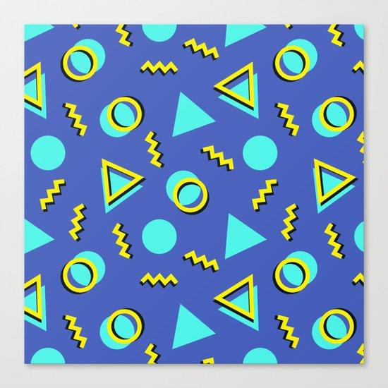 Memphis pattern 63 Canvas Print