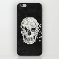 death iPhone & iPod Skins featuring A Beautiful Death - mono by Terry Fan