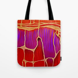 Distant Trees in Violet and Vermillion Tote Bag