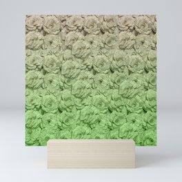 Chartreuse Green Ombre Book Flowers Mini Art Print