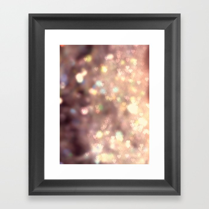 Glitters in your Heart  - JUSTART ©, digital art. Framed Art Print