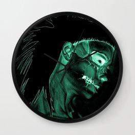 Inverted Yolanda zombie girl Wall Clock