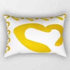 Gold Hearts on White - Love is Golden Rectangular Pillow