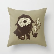 Puzzle Solved Throw Pillow