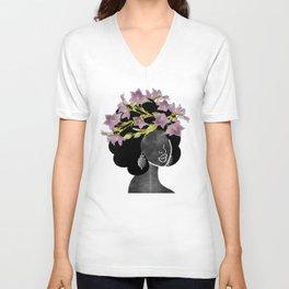 Wildflower Crown II Unisex V-Neck