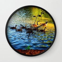 Lake Side Adventures Wall Clock