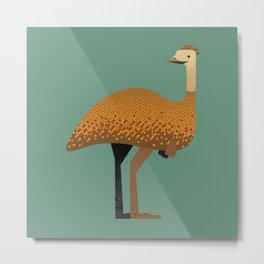 Whimsy Emu Metal Print
