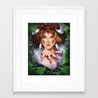 princess mononoke Framed Art Prints featuring Mononoke by ShinoX