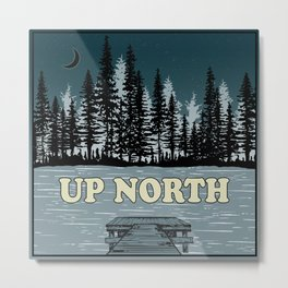 Up North at Night Metal Print