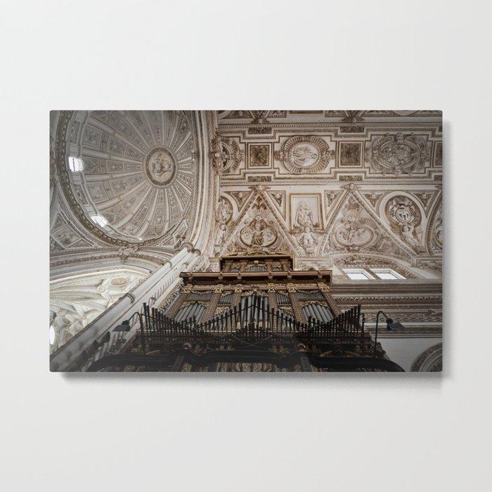 Organ and Ceiling (Cordoba Cathedral) Metal Print
