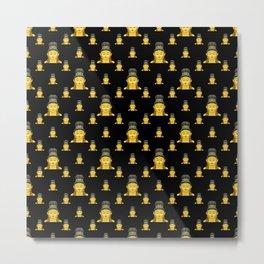 Buddhist Motif Print Pattern Metal Print