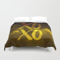 xoxo Duvet Covers featuring XOXO by cat&wolf