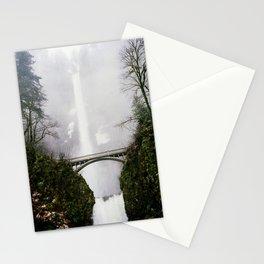 Multnomah Falls in Fog (Winter) Stationery Cards