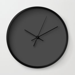 Plain Charcoal Grey to Coordinate with Simply Design Color Palette Wall Clock
