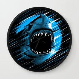 Shark Lines attack Wall Clock
