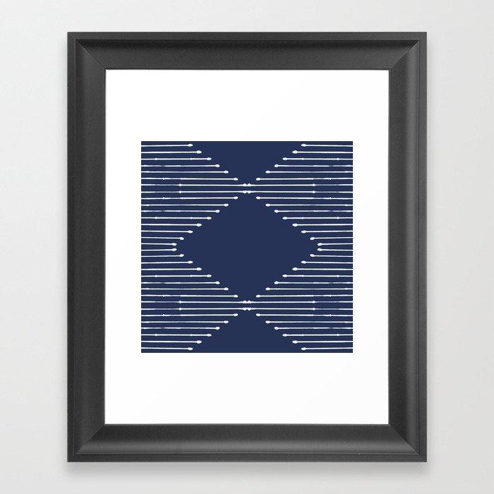 Geo (Navy) Gerahmter Kunstdruck