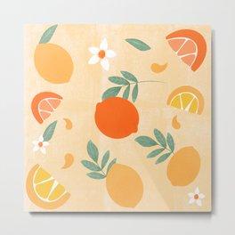 Summer citrus lemon orange  Metal Print