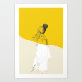 Woman Color 7 Art Print