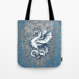 Noble House STEEL BLUE / Grungy heraldry design Tote Bag