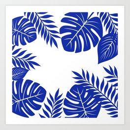 Paradise in cobalt Art Print