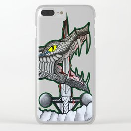 Serpant Twin Illustration Clear iPhone Case