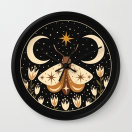 Between two moons Wall Clock