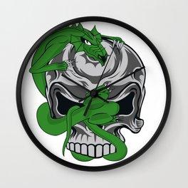 Skull Vs. Dragon Wall Clock