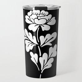 Black Rose Inverted Travel Mug
