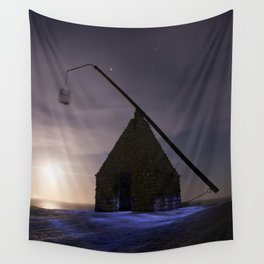 Lighthouse at World'd End (Verden Ende) on Tjøme in Norway Wall Tapestry