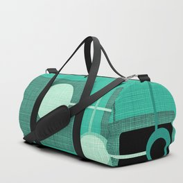 Orbs and Squares (aqua) Duffle Bag