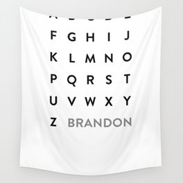 Brandon Grotesque Wall Tapestry