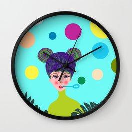 Playful girl Wall Clock