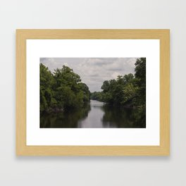 Slow Jungle River Down South Framed Art Print