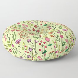 Doodles Botanical (pretty floral pattern) Floor Pillow