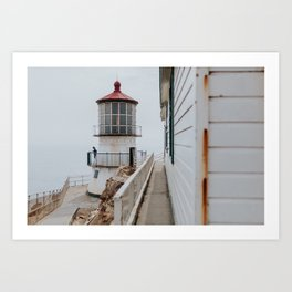 Point Reyes Lighthouse up close Art Print
