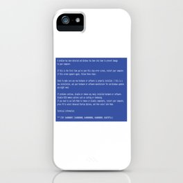 This is a perfect gift for computer users who hates Blue Screen of Death, Classic BSOD Error T-Shirt iPhone Case